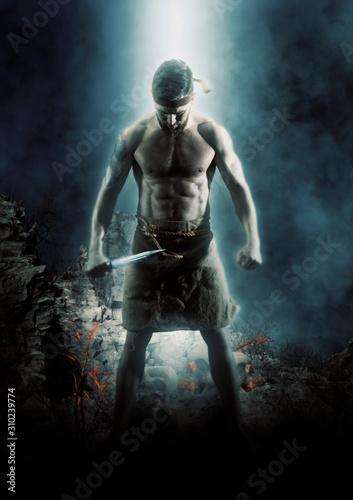 Foto Handsome muscular ancient warrior