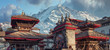 Leinwanddruck Bild - Patan. Ancient city in Kathmandu Valley. Nepal
