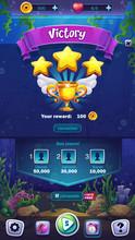 Mahjong Fish World - Vector Illustration Mobile Format Victory Field
