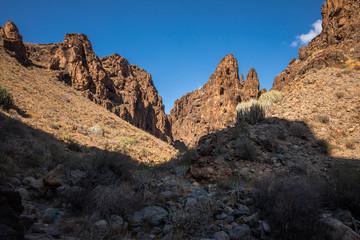 Barranco Hondo canyon in Gran Canaria in Canary Islands