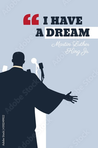 Martin Luther King Day flyer, banner or poster Wallpaper Mural