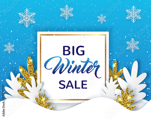 Valokuva Design for winter sale with fir