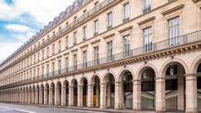 Paris, Panorama Of The Rue De Rivoli, Typical Building, Parisian Facade