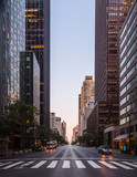new york city street in the morning