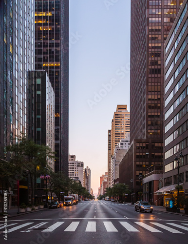 new york city street in the morning Wall mural