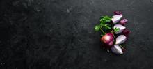 Sliced Purple Sweet Onion, On ...