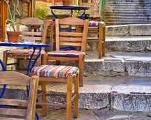 Plaka, Athens, Cafe Blue Table...