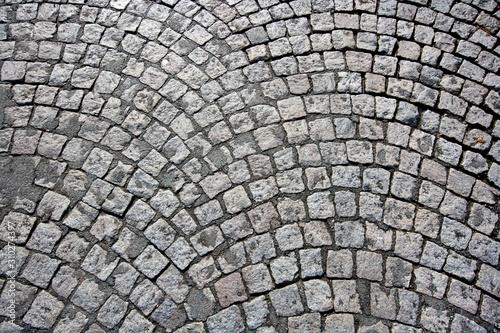 Fotografia, Obraz Cobbled street in Paris, France
