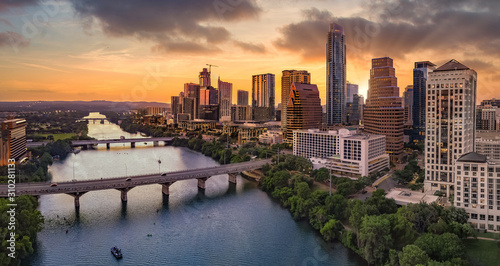 fototapeta na ścianę Austin Texas during sunset