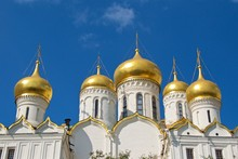 Annunciation Cathedral In The Moscow Kremlin In Russia