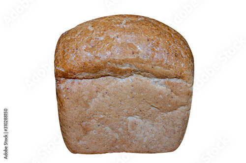 Fotografie, Obraz A small loaf of brown bread isolated on a white background