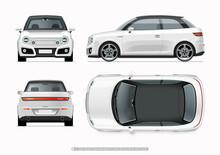 Modern Compact City Car Mockup...