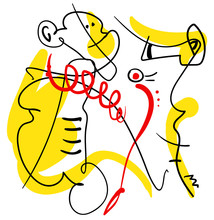 Abstract One Line Contemporary...