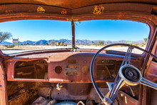Abandoned Cars In Namibia, Afr...