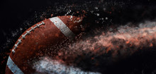 American Football Ball Close U...
