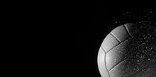 Closeup Detail Of Volleyball B...