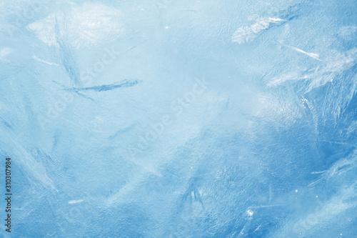Obraz blue frozen texture of ice - fototapety do salonu