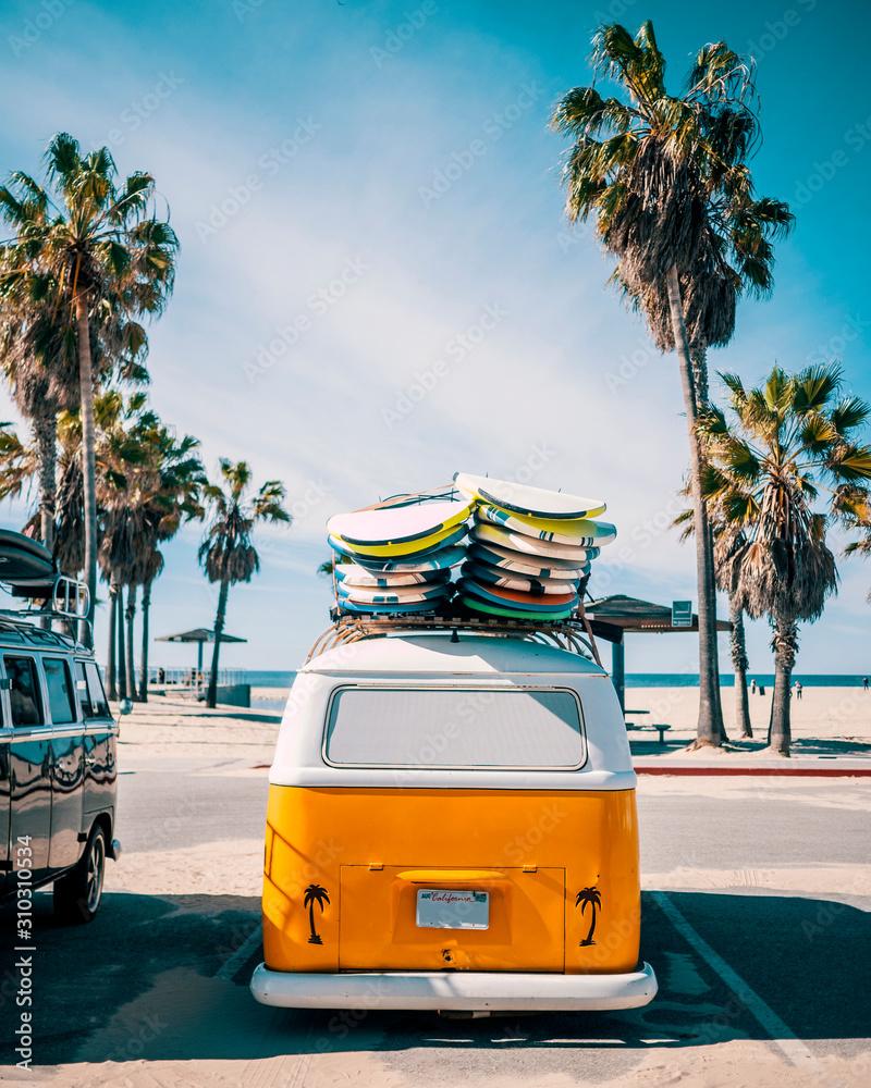 Fototapeta Venice Beach Surf Van, Los Angeles, California