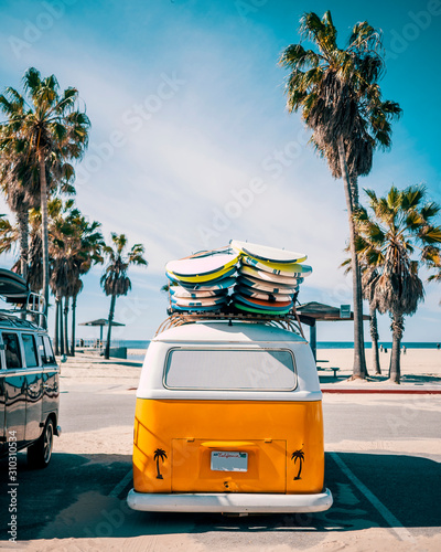 Venice Beach Surf Van, Los Angeles, California