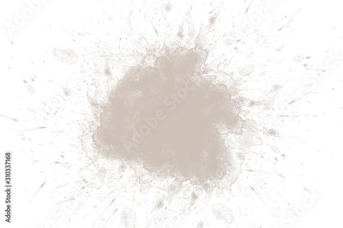 Abstract brown watercolor on white background
