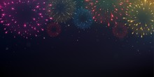 Bright Colorful Fireworks On N...