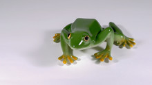 Ceramic Decorative Green Frog