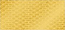 Luxury Background Vector. Thai Pattern Golden Background - Vector