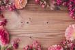 Leinwandbild Motiv 花の木目背景