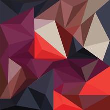 Geometric Mural Art. Triangle ...