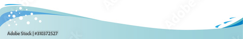 Fototapeta Wave And Bubbles Header And Footer Banner obraz