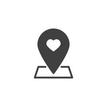 Map Pointer With Heart Vector ...
