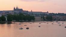 Prague View At Sunset, Czech Republic, 4k