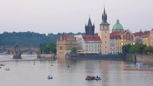 Prague View At Sunset, Czech R...