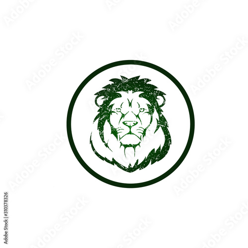 Gaming Lion mascot logo template - vector Wallpaper Mural