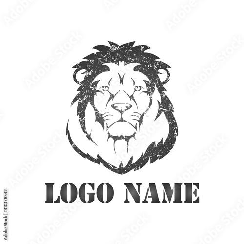 King Lion logo template - VECTOR Canvas Print