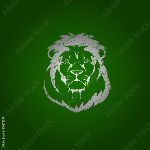 King Lion Icon grunge effect - VECTOR Canvas Print