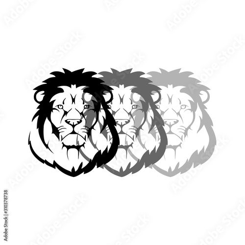 Lion icon with shades - VECTOR Canvas Print
