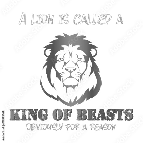King of beasts Lion - VECTOR Canvas Print