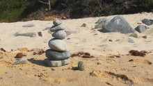 Stacked Zen Stones At The Beac...