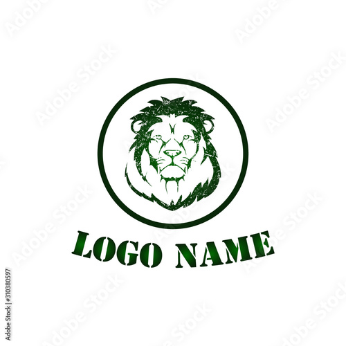 Photo Lion Mascot Style Head Logo template
