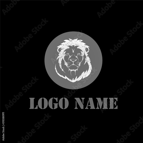 Lion Logo template - VECTOR Canvas Print