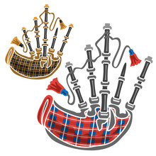 Vector Set Of Scottish Bagpipe...