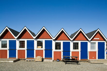 Small Huts On Beach