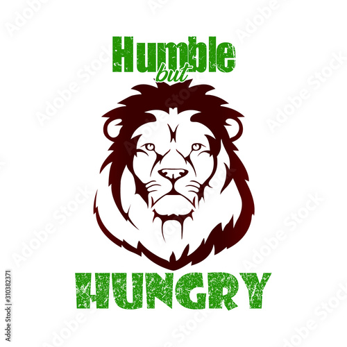 Humble Lion design for t shirt and apparel - VECTOR Canvas Print