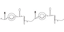 Continuous Line Drawing Of Pla...