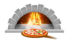 Brick Stone Oven Pizza Illustr...