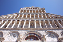 Facade Of Pisa Cathedral With ...