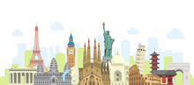 World Travel Vector Banner  Il...