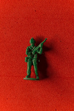Green Plastic Toy Soldier On A...