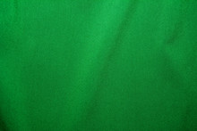 Dark Green Fabric Textile Material, Abstract Background For Design With Soft Waves.